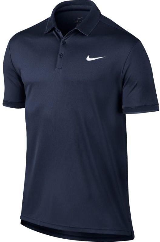 Теннисная футболка мужская Nike Court Dry Polo Team midnight navy/white поло