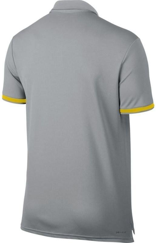 Теннисная футболка мужская Nike Court Dry Polo Team vast grey поло