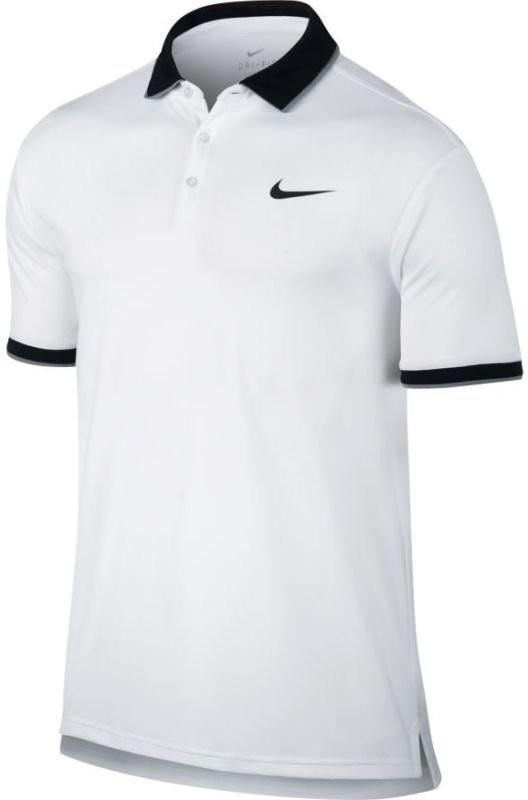 Теннисная футболка мужская Nike Court Dry Polo Team white/black/cool grey/black поло