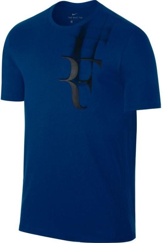 Теннисная футболка мужская Nike Court RF Tee blue jay