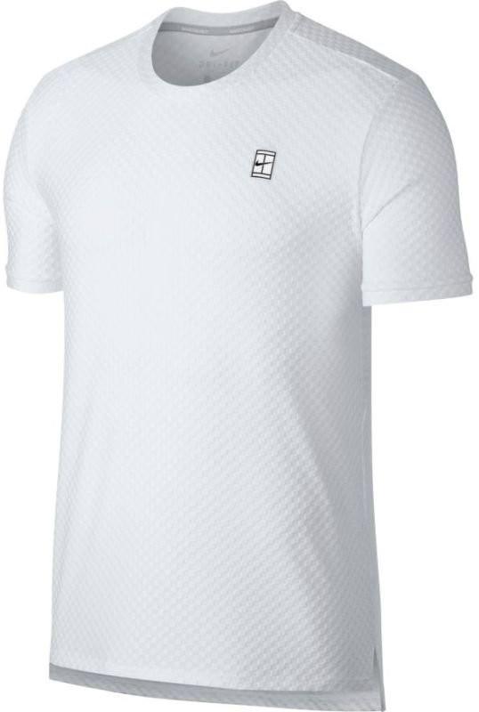 Теннисная футболка мужская Nike Court Top SS Checkered white/black