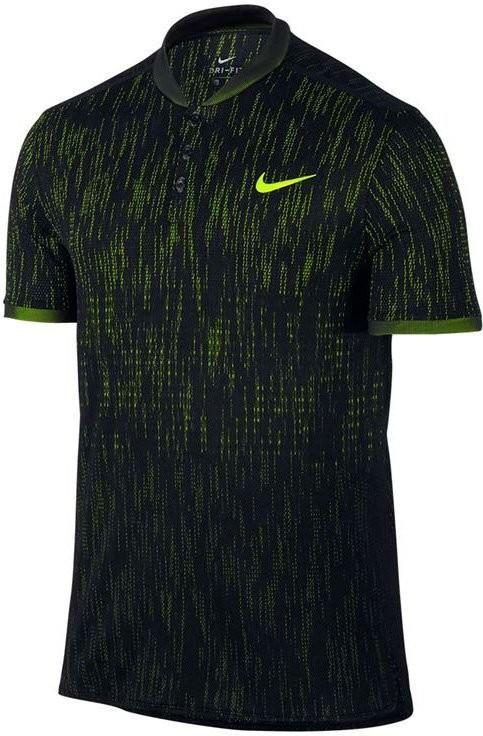 Теннисная футболка мужская Nike Dry Advantage Polo SS Premier black/volt/volt поло