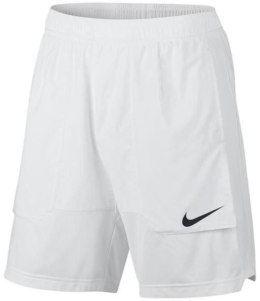 Теннисные шорты мужские Nike Court Dry Basic Short white/black