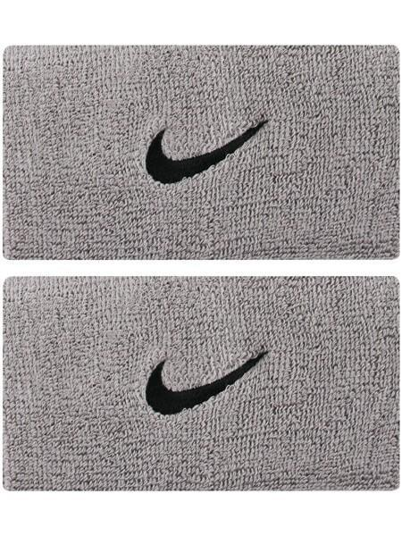 Напульсник Nike Swoosh Double-Wide matte silver/black