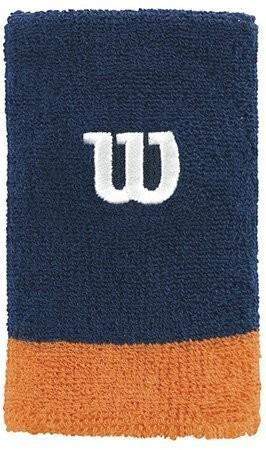 Напульсник Wilson Extra Wide navy/clementine/white