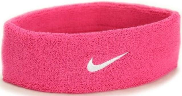 Повязка на голову Nike Swoosh Headband vivid pink/white