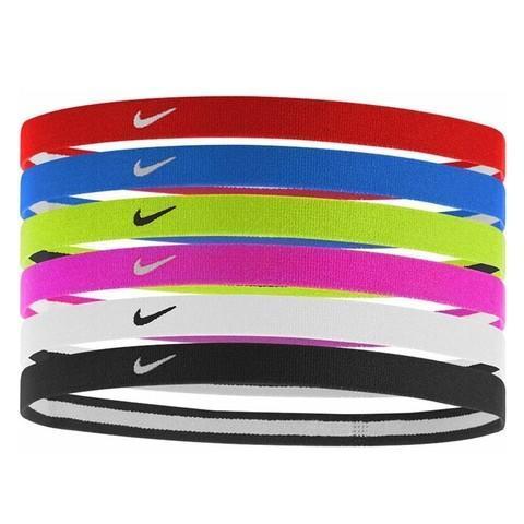 Резинка на голову Nike Swoosh Sport Headbands 6PK 2.0 university red/game royal/volt