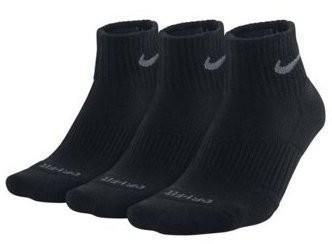 Nike Dri-Fit Cotton Cushioned Quarter 3-pack/black