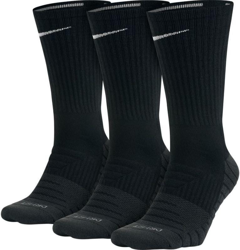 Nike Dry Cushioned Crew 3 pack/black