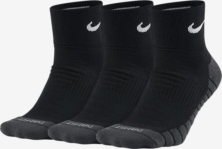 Nike Dry Cushioned Quarter 3 pack/black