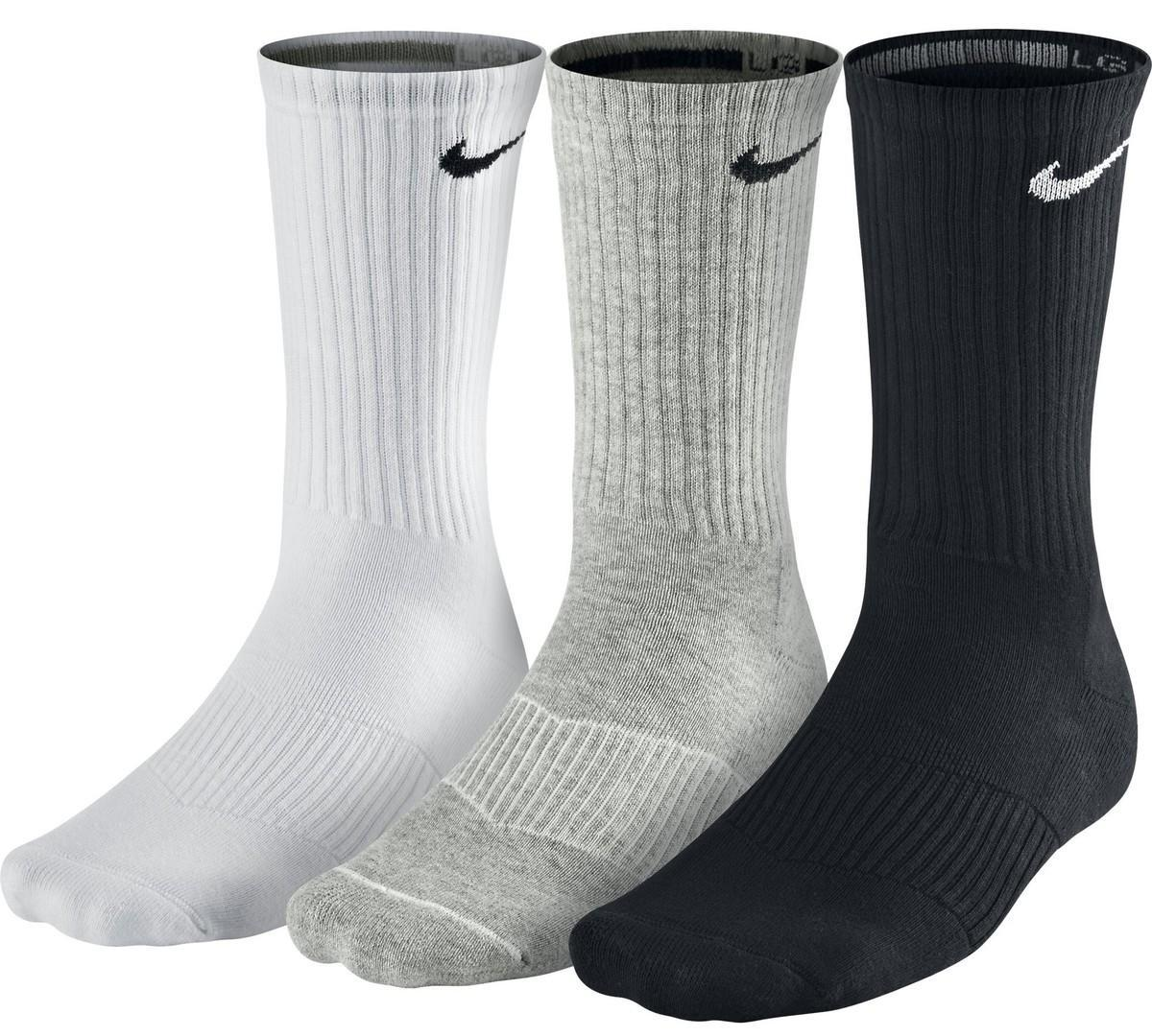 Nike Performance Cotton Cushioned Crew 3-pack/black/white/grey
