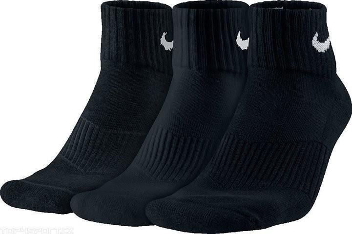 Nike Performance Cotton Cushioned Quarter 3-pack/black
