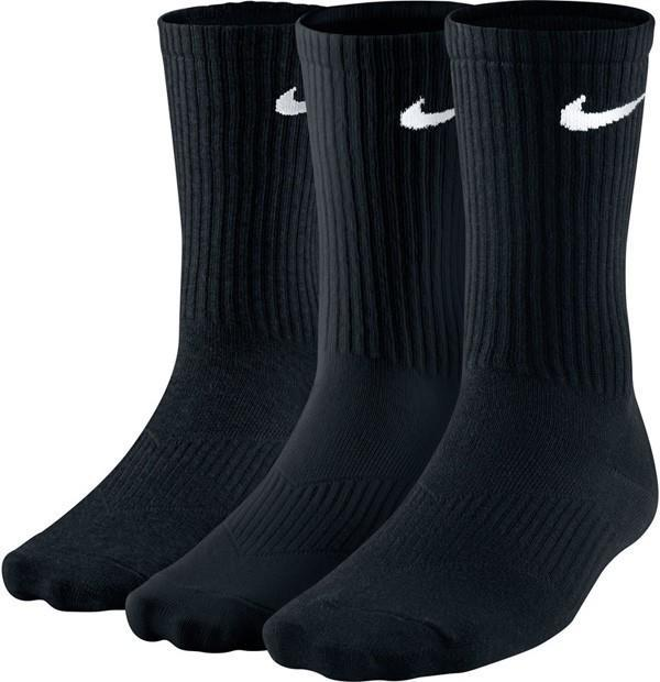 Nike Performance Cotton Lightweight Crew Socks 3-pack/black