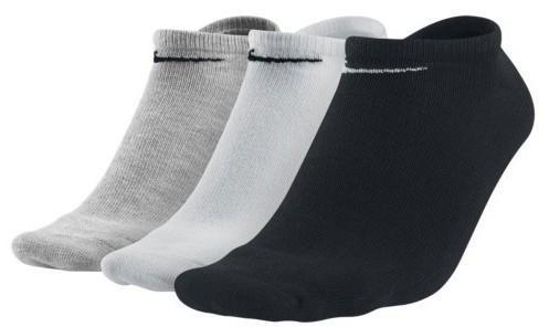 Nike Value Cotton Lightweight No Show 3-pack/black/white/grey
