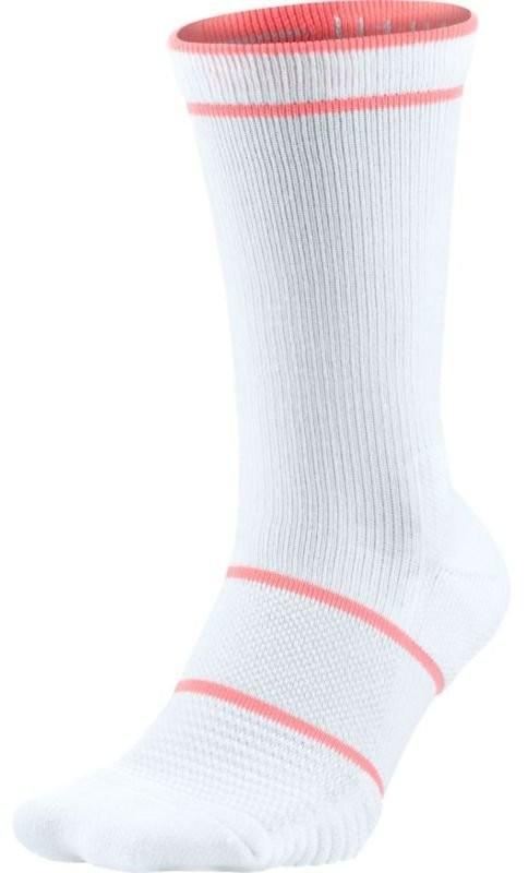 Носки теннисные Nike Court Essential Crew 1 пара white/lava glow