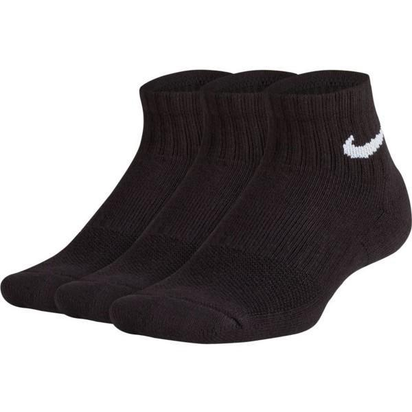 Носки детские Nike Performance  Cushioned Quarter Junior 3-pack/black