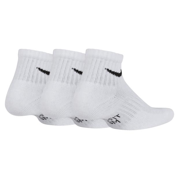 Носки дитячі Nike Performance  Cushioned Quarter Junior 3-pack/white