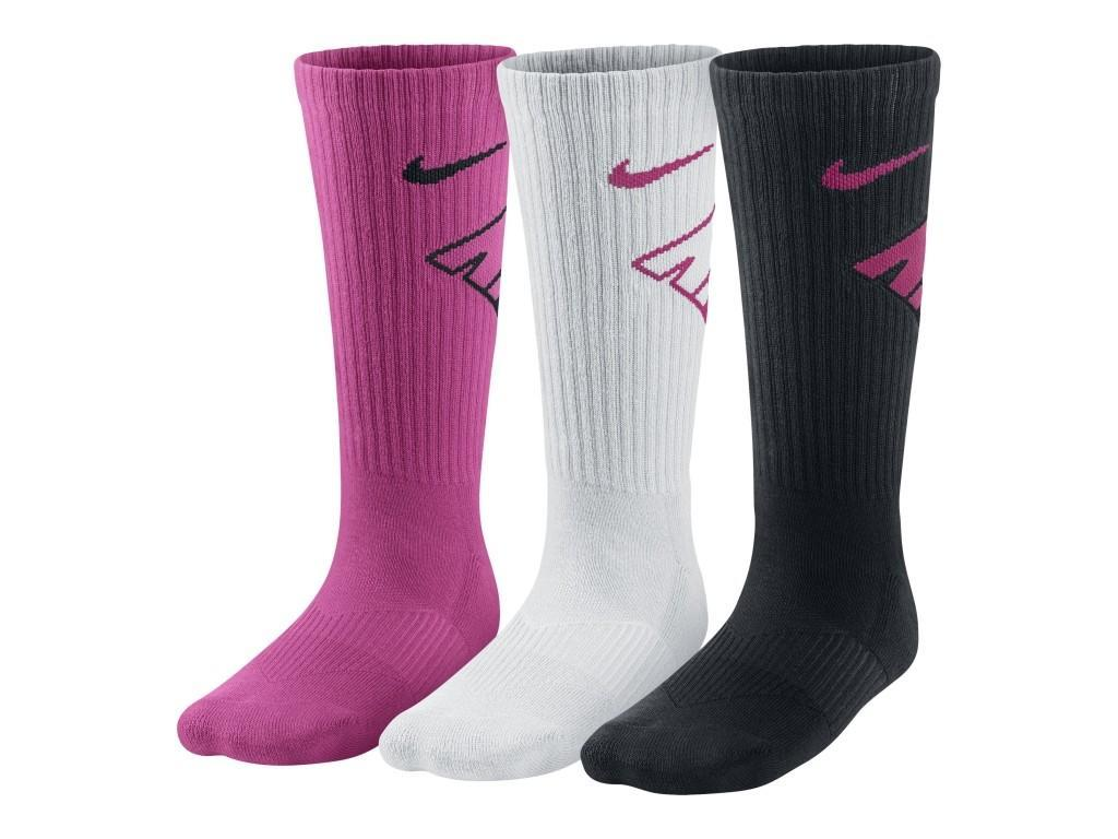 Носки детские Nike Performance Cotton Cushioned Crew Junior 3-pack/vivid pink/black/white