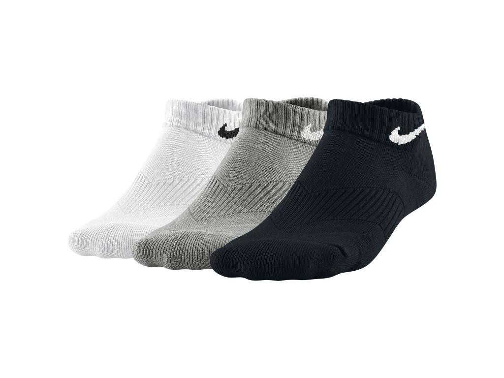 Носки дитячі Nike Performance Cotton Cushioned No Show Junior  3-pack/grey/black/white