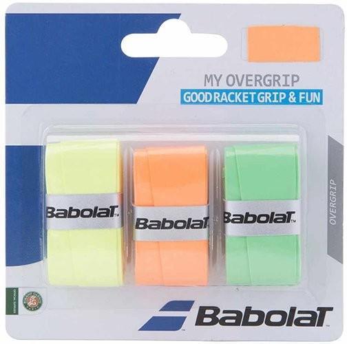 Намотка Babolat My Overgrip (3 шт.) orange/green/yellow