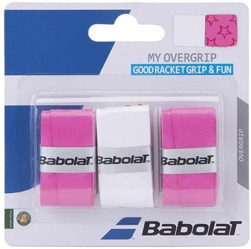 Намотка Babolat My Overgrip (3 шт.) pink/white