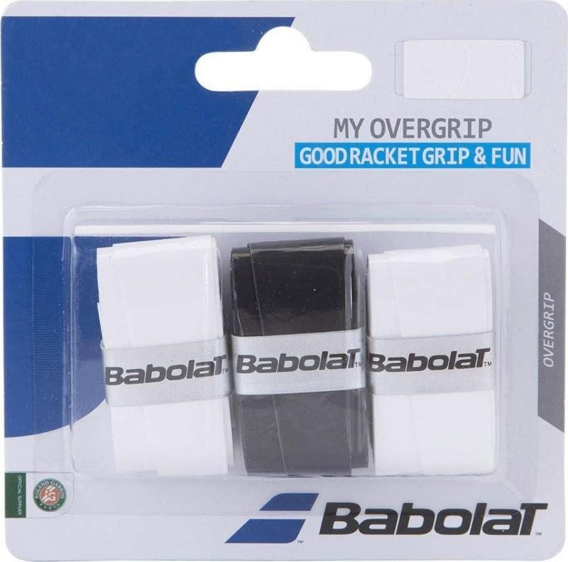 Намотка Babolat My Overgrip (3 шт.) white/black/white
