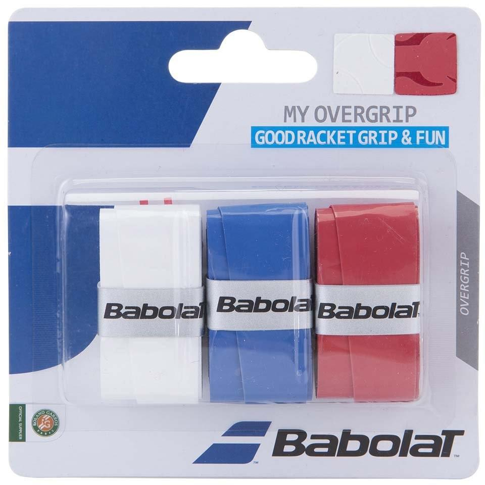 Намотка Babolat My Overgrip (3 шт.) white/blue/red