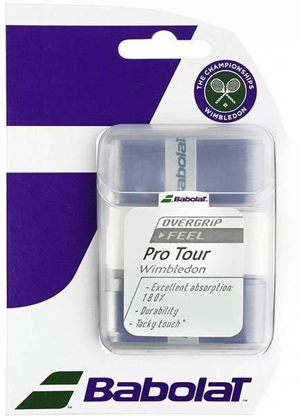 Намотка Babolat Pro Tour Wimbledon 2016 (3 шт.) white/purple