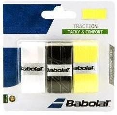Намотка Babolat Traction (3 шт.) white/black/yellow