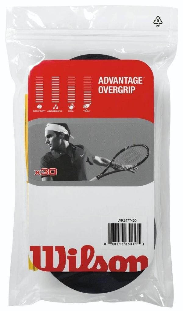 Намотка Wilson Advantage Overgrip (30 шт.) black
