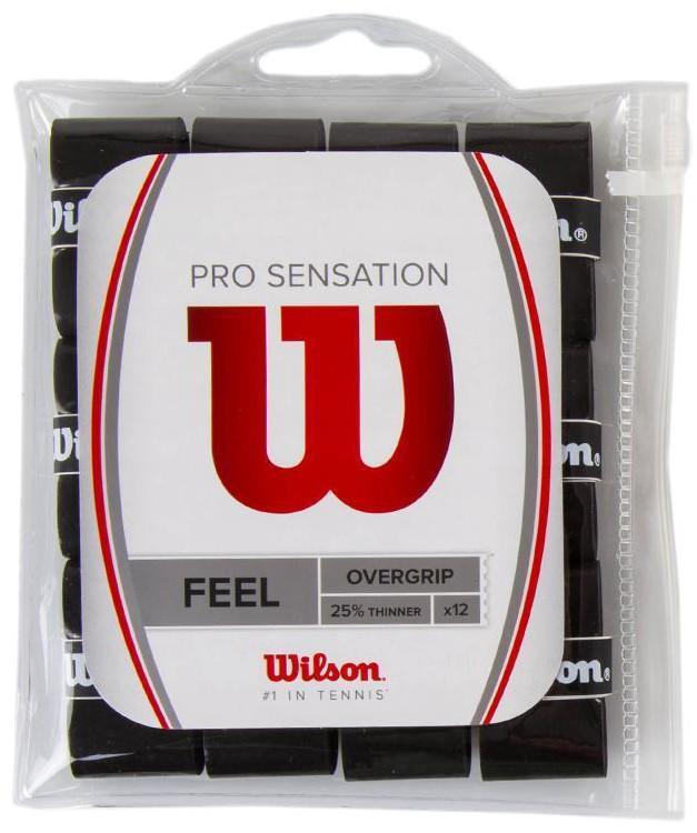 Намотка Wilson Pro Overgrip Sensation (12 шт.) black