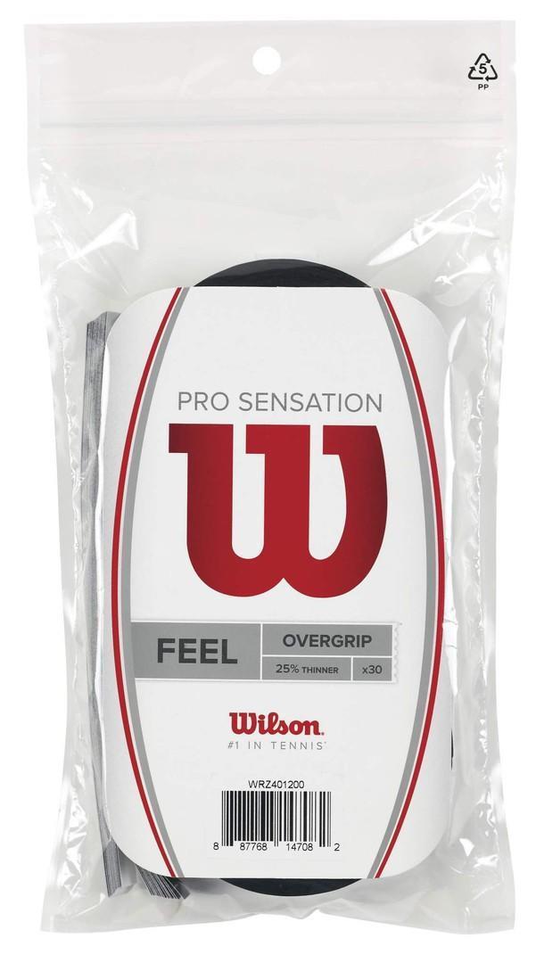 Намотка Wilson Pro Overgrip Sensation (30 шт.) black