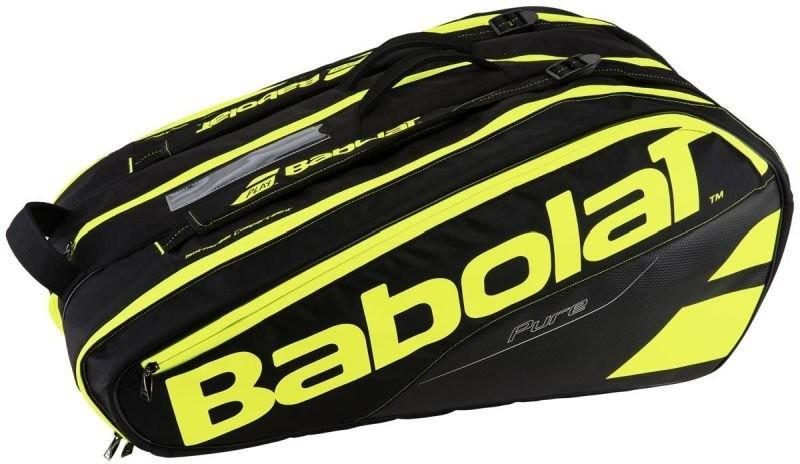 Теннисная сумка Babolat Pure Aero x12 2017 black/fluo yellow