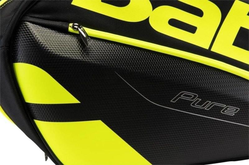 Теннисная сумка Babolat Pure Aero x12 black/fluo yellow