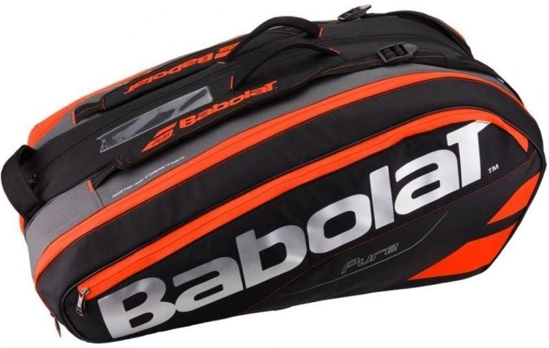 Теннисная сумка Babolat Pure Strike x12 black/fluo red