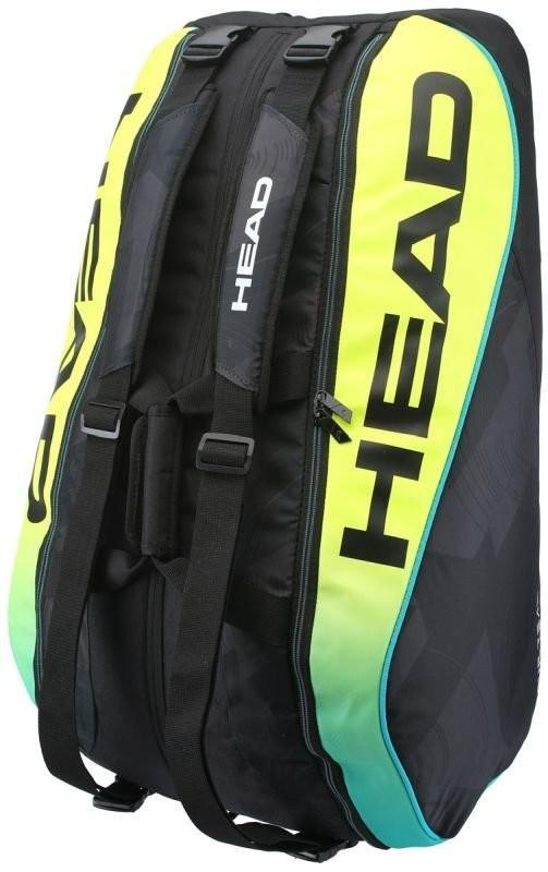 Теннисная сумка Head Extreme 12R Monstercombi black/yellow