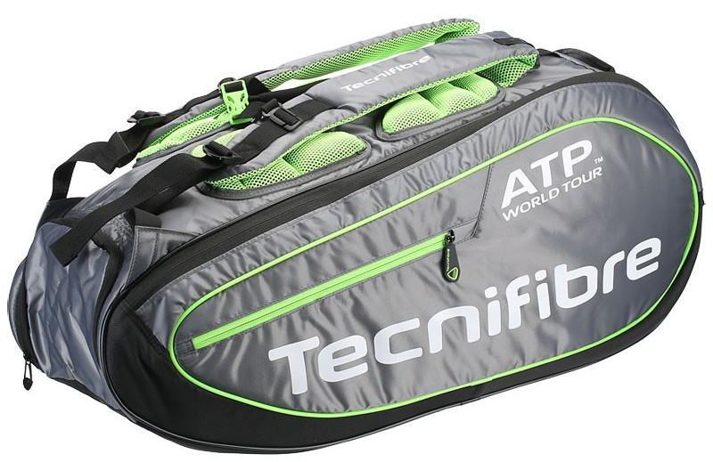 Теннисная сумка Tecnifibre Tour ATP Ergonomy Bags 9 Pack black/grey/lime