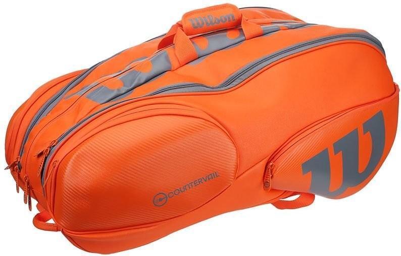 Теннисная сумка Wilson Burn Countervail 15 Pk Bag orange/grey