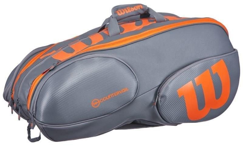 Теннисная сумка Wilson Burn Reverse 15 Pk grey/orange Bag