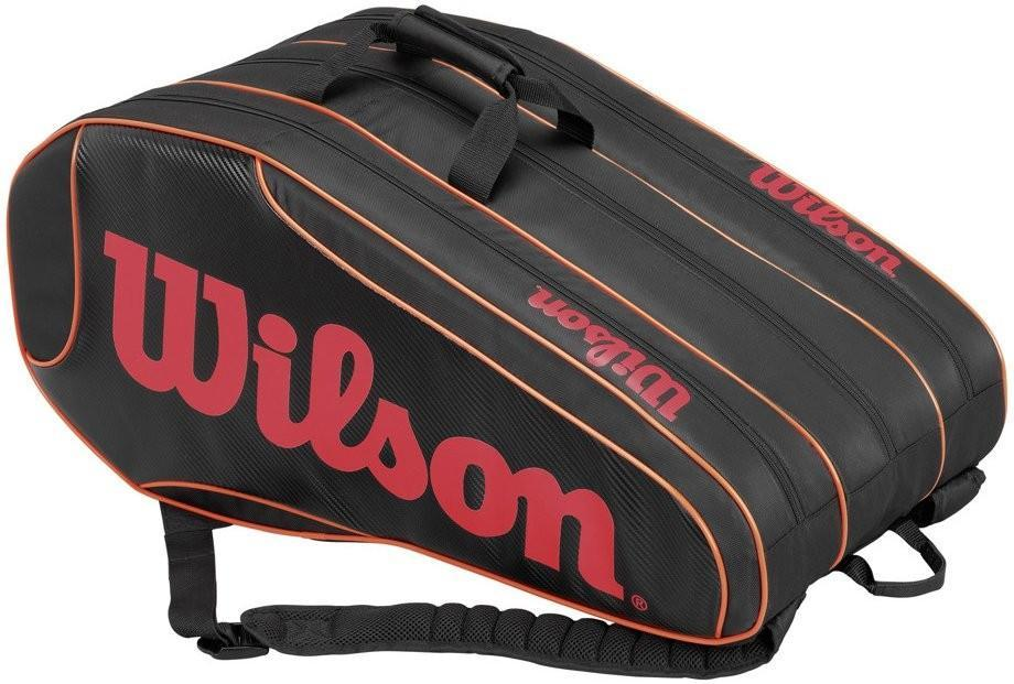 Теннисная сумка Wilson Burn Team 12 Pack Bag black/orange