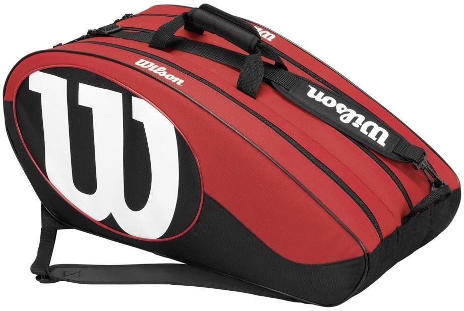 Теннисная сумка Wilson Match II 12 Pk black/red