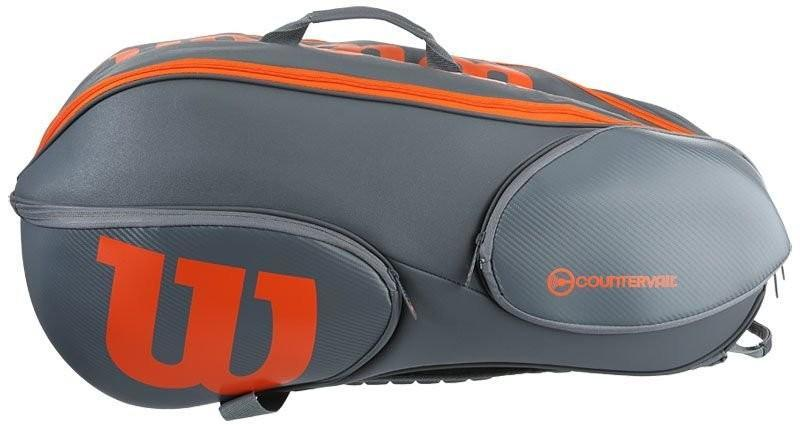 Теннисная сумка Wilson Burn Reverse 9 Pk Bag - grey/orange