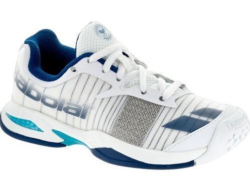 Детские теннисные кроссовки Babolat Jet All Court Wimbledon Junior white
