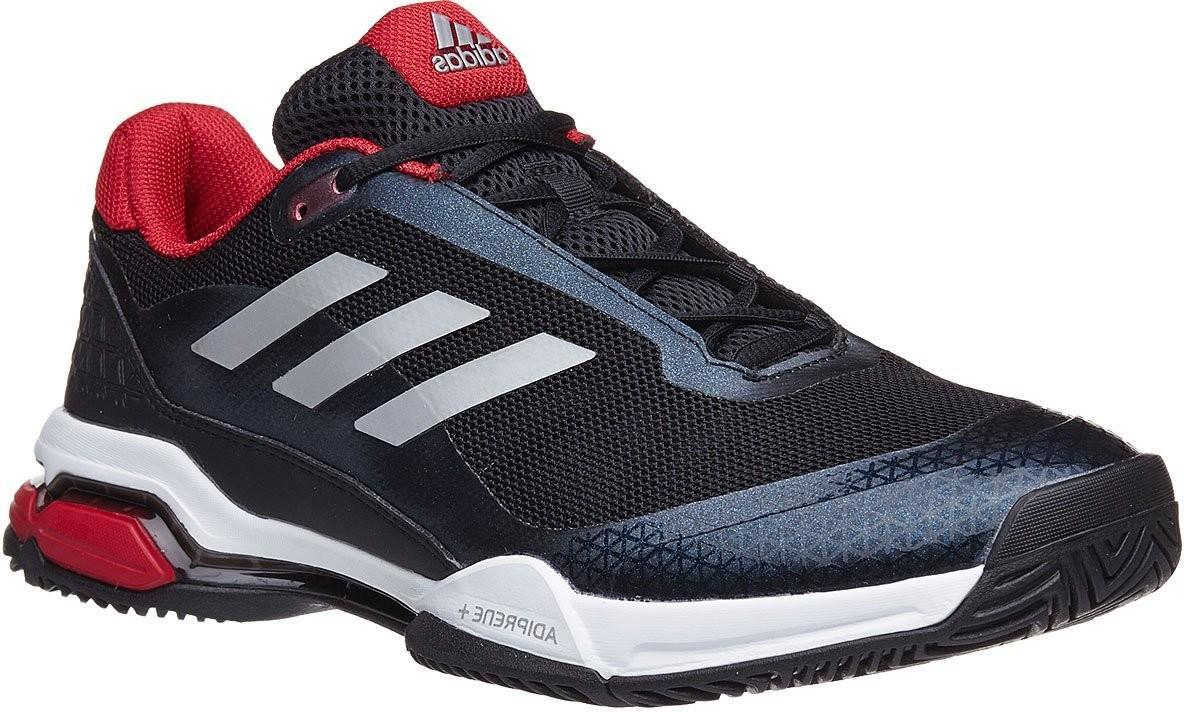 Теннисные кроссовки мужские Adidas Barricade Club core black/matte silver/white