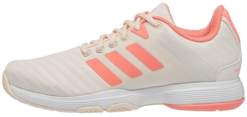 Теннисные кроссовки женские Adidas Barricade Court W ecru tint/chalk coral/white