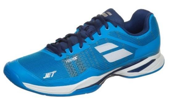 Теннисные кроссовки мужские Babolat Jet Mach I all court diva blue/white/estate blue