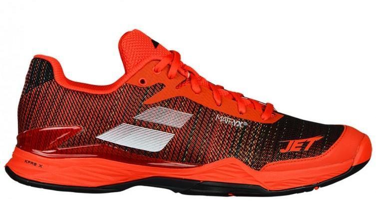Теннисные кроссовки мужские Babolat Jet Mach II all court orange/black