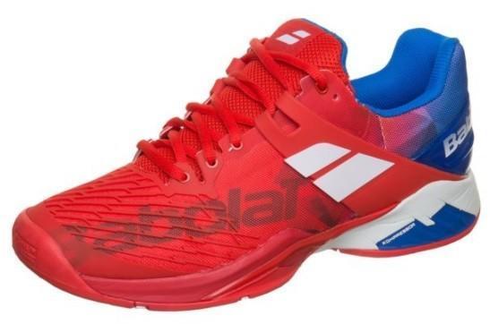 Теннисные кроссовки мужские Babolat Propulse Fury ГРУНТ bright red/electric blue