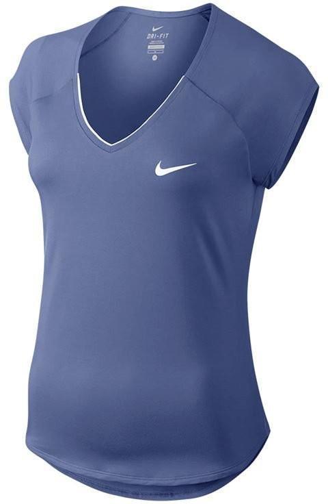 Теннисная футболка женская Nike Court W pure Top purple slate