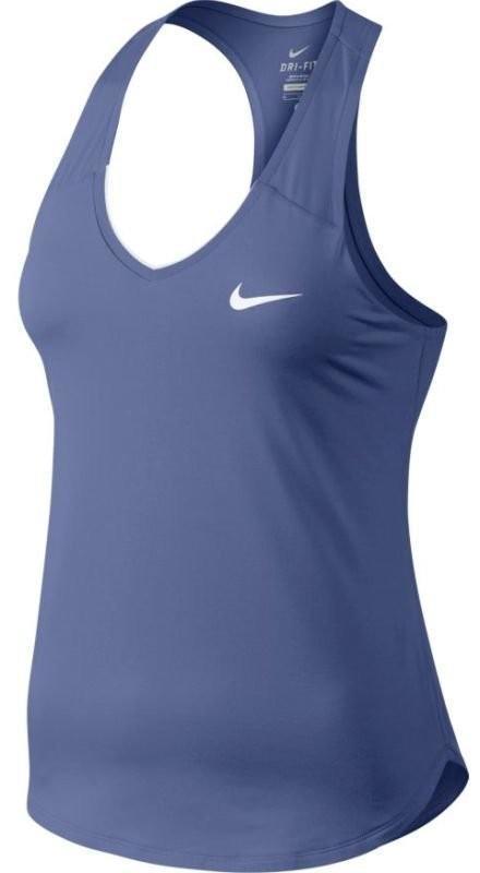 Теннисная майка женская Nike Pure Tank purple slate/white
